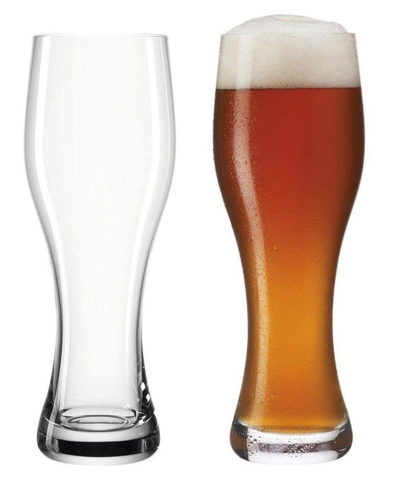 Weizen beer glass for wheat beer